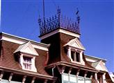 Close-up of widow's walk on Wright house roof